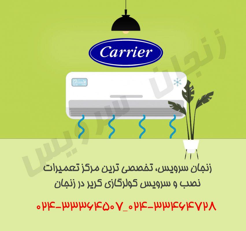 تعمیرات کولر گازی کریر در زنجان